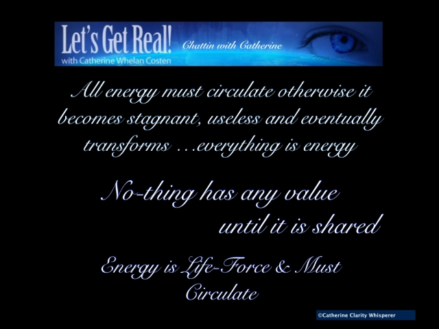 All energy must circulate Energy is Life-force poster.001
